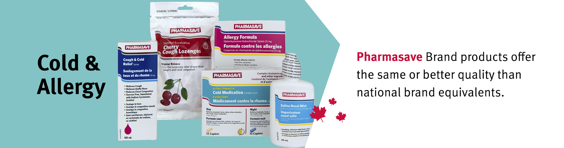 Learn more about Pharmasave's cold and allergy products.