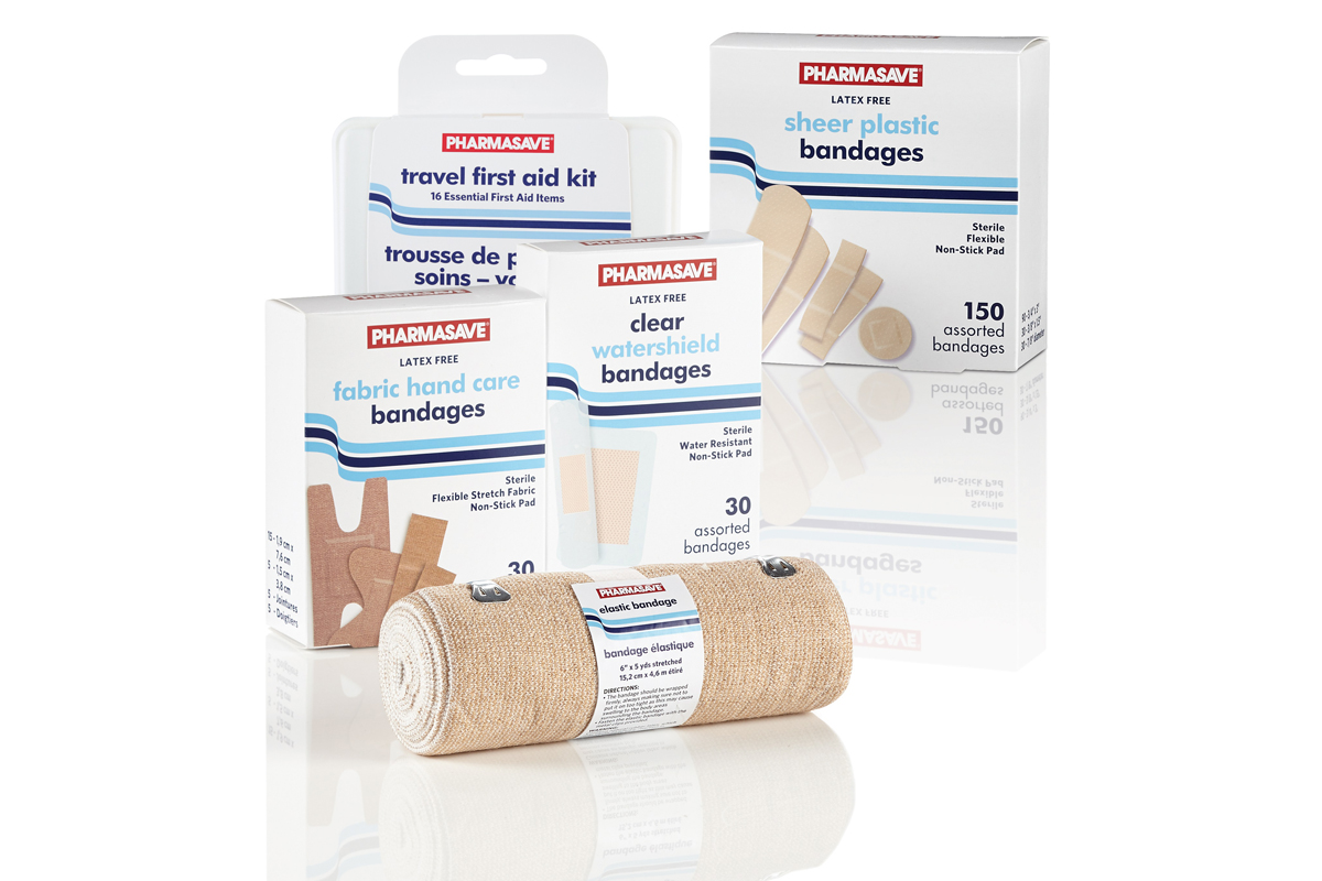 First Aid Pharmasave products.
