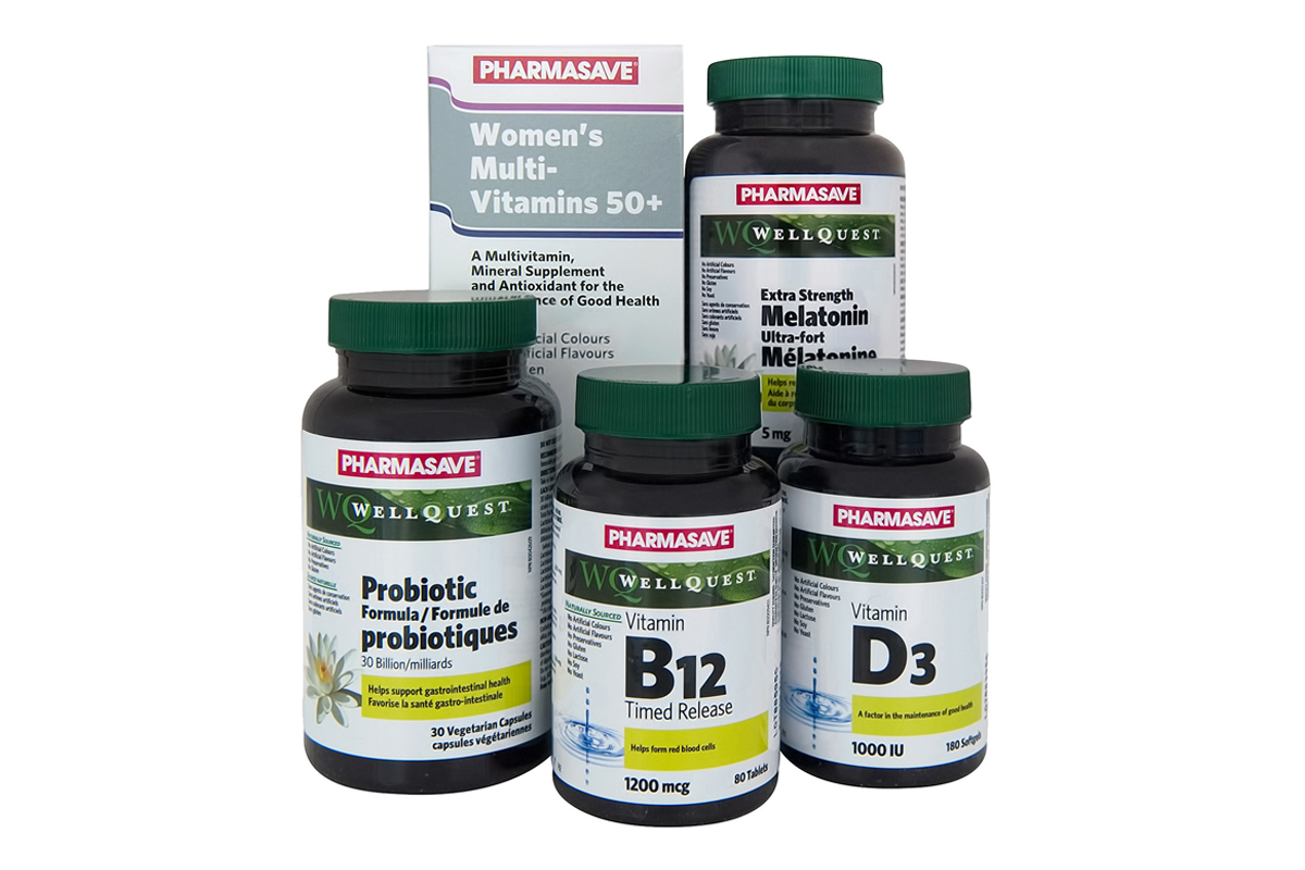 Pharmasave Vitamins, Minerals and Supplements products.