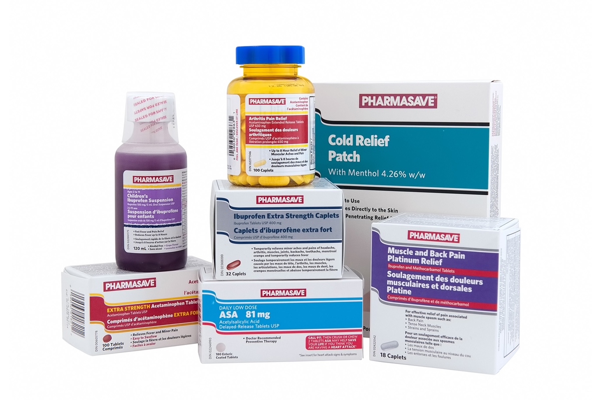 Pain and Analgesics Pharmasave products.