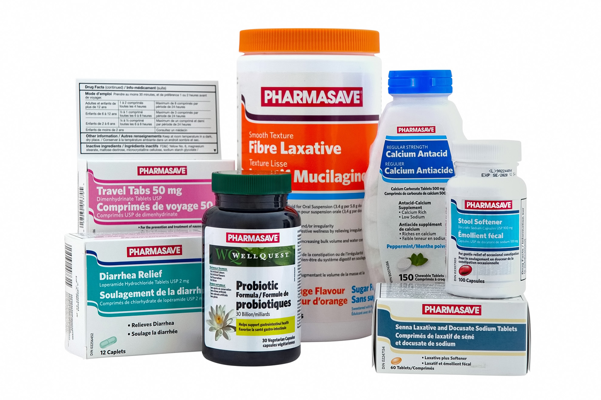 Digestive Health Pharmasave products.