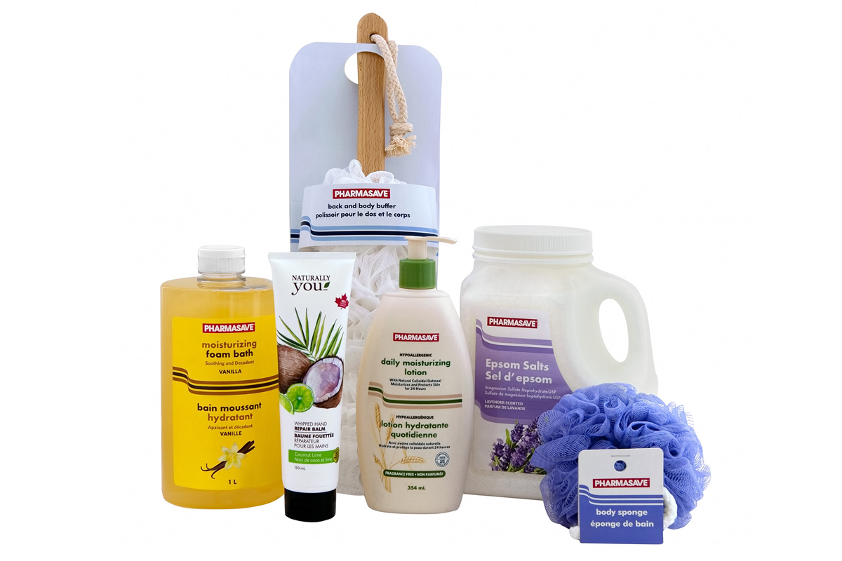 Bath and Body Care Pharmasave products.